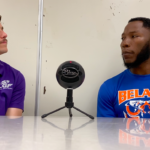 Belaire High Head Coach Byron Wade (right) and Braden Erwin (left) talking about Belaire Football in a new episode of Coaches Corner, exclusive on the Gridiron Football App